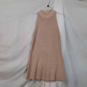 1. State Blush Metallic Sweater Dress